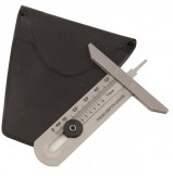 Измеритель глубины протектора стальной 0-50 мм с чехлом S-4464-1
